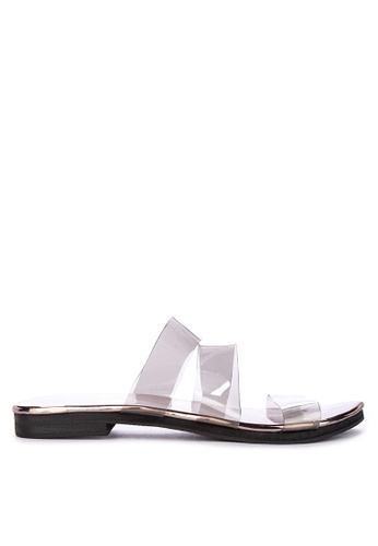4d9a520b8996 Shop Janylin Clear With Metallic Detail Flats Online on ZALORA Philippines