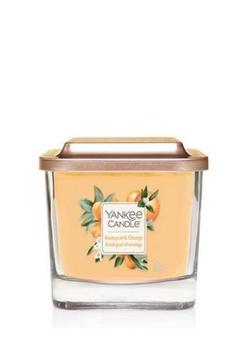 Yankee Candle orange Elevation Square Candle Small Kumquat and Orange 536F3HLB124331GS_1