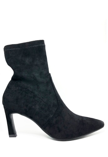 Twenty Eight Shoes black Socking Pointy Boots 3699 ABE12SH9764D77GS_1