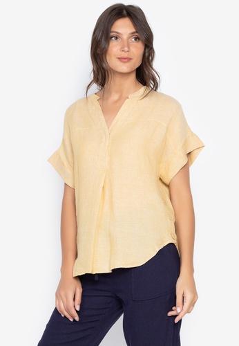 ea9e52386a Shop MARKS & SPENCER Pure Linen Short Sleeve Shirt Online on ZALORA ...
