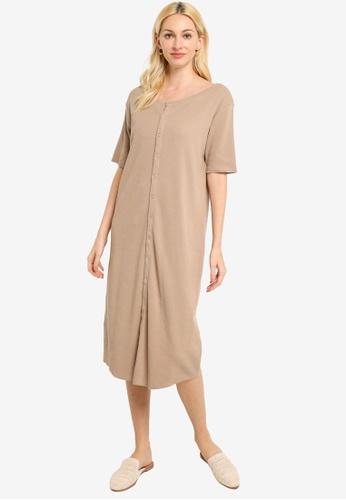 niko and ... beige Buttoned Rib Dress 9EAA6AA8650377GS_1