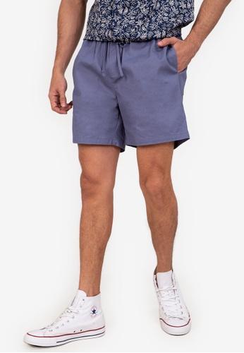 ZALORA BASICS blue Drawstring Camp Shorts 9B3FCAA8867761GS_1