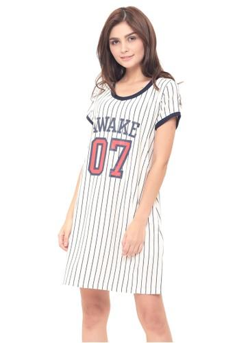 MOOIMOM white MOOIMOM Baseball Nursing Dress & Baby Clothes Baju Hamil Menyusui Couple Ibu Anak - White B27A8AA231C377GS_1