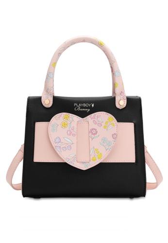 PLAYBOY BUNNY black Women's Hand Bag / Top Handle Bag / Shoulder Bag 4B917AC990EF03GS_1