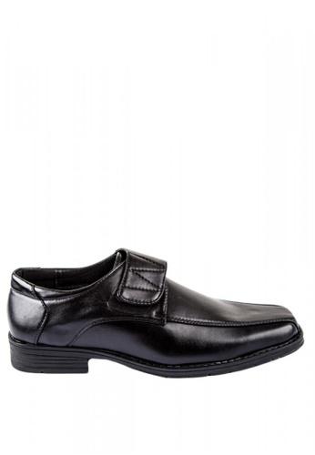 Otto black Velcro Strap Formal Black Shoes B3021SHC736798GS_1