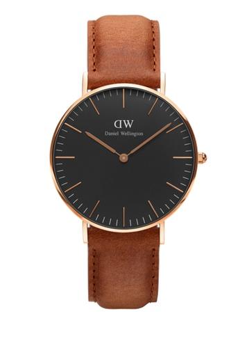 31073eb5458c Daniel Wellington gold and brown Classic Black Durham Watch 36mm  DA376AC77NBQMY 1