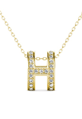 Her Jewellery gold Honey Pendant (Yellow Gold) - Made with premium grade crystals from Austria B7227AC6FB6CE6GS_1