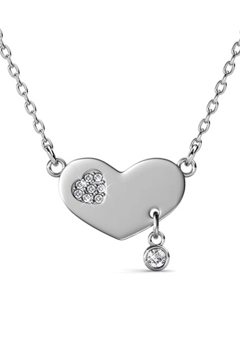 Her Jewellery silver Amour Pendant (White Gold) - Made with premium grade crystals from Austria C6687ACEBE935FGS_1