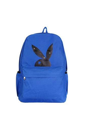 Playboy blue Printed Backpack E132DACEA60822GS_1
