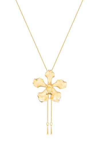 RISIS gold RISIS 24K Gold Plated Natural Vanda Wee Kim Lian Orchid Slider D3FAAAC423088CGS_1