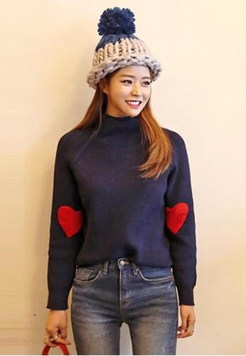 心形布貼針織套衫, 服飾, 毛衣&zalora taiwan 時尚購物網鞋子amp; 針織外套