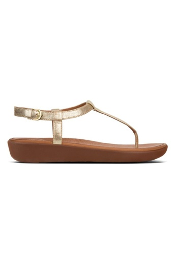 328e8b79114 Fitflop gold Fitflop Tia Toe-Thong Sandals Leather Pale Gold  44623SHC1234B1GS 1