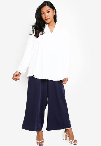 CURVA FABULOUS white Ms Natasha Lightweight White Shirt 1BBC6AAEE30F53GS_1