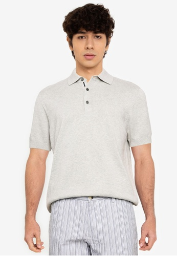Ben Sherman grey Short Sleeves Signature Knitted Polo Shirt C42CAAA04C858FGS_1