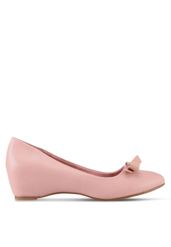 VINCCI pink Round Toe Pump Wedges C662BSH179B124GS_1