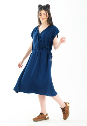 CUIT navy CUIT FAMILY Premium Viscose Nanase Dress Hamil Menyusui Nami Series Navy FA8F9AA78F61C3GS_1