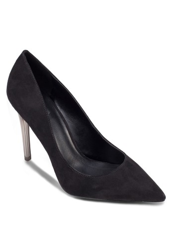 Nika 仿麂皮尖頭高跟鞋, 女鞋,zalora是哪裡的牌子 鞋