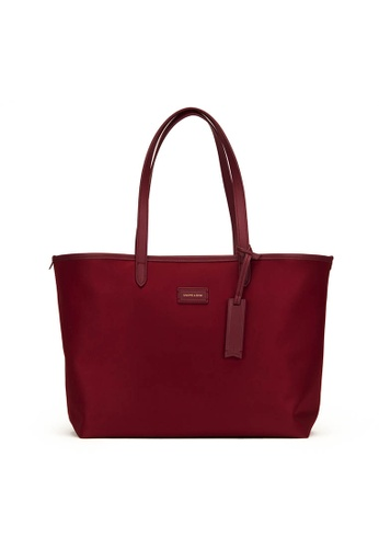 Gnome and Bow red and beige and brown Chelsea Tote (Reversible) A7FA8ACC93694AGS_1