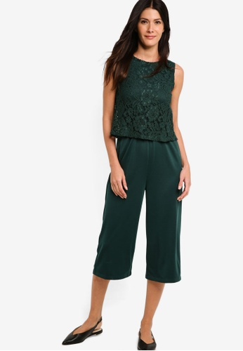 ZALORA green Fit And Flare Jumpsuit 5E715AAFBC4DA7GS_1