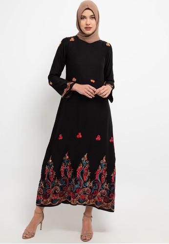 AZZAR black Zel Maxi Dress 90544AA1024B05GS_1