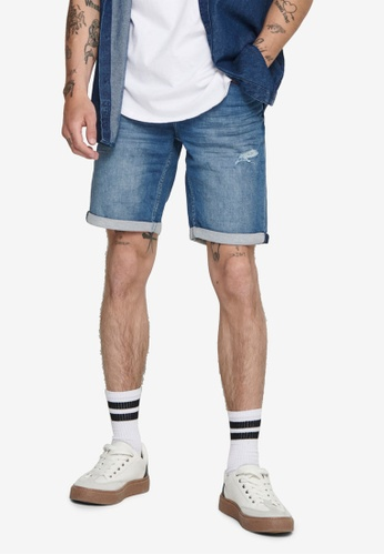 Only & Sons blue Life Denim Shorts FC987AA75F851FGS_1
