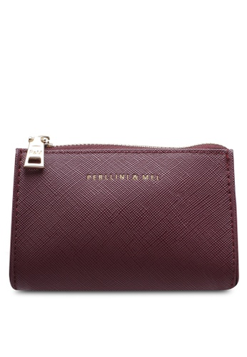 Perllini&Mel red Faux Leather Small Pouch PE444AC0SCO3MY_1