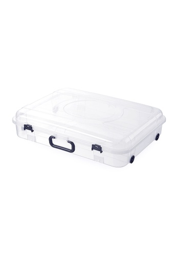 HOUZE HOUZE - 30L Underbed Storage with Wheels and Handle (Clear) 5246BHL1EB90FDGS_1
