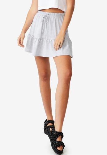 Cotton On grey Tori Tiered Mini Jersey Skirt 05C63AACF0FA56GS_1