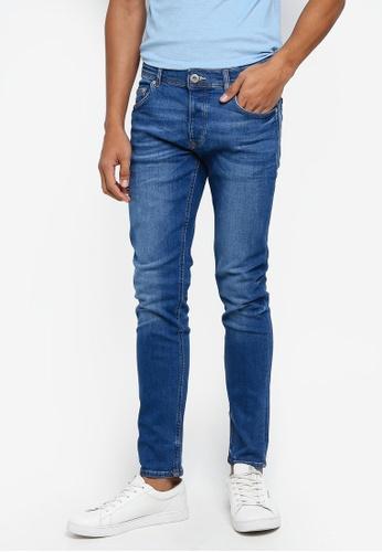 River Island 藍色 Eddy Skinny Jeans 32A22AA4D5A0C6GS_1