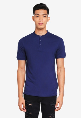 Jack & Jones 藍色 Short Sleeve Baseball Polo Shirt 13903AAA9B3CB9GS_1