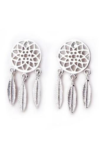 YOUNIQ silver YOUNIQ Basic Korean Dream Catcher Drop Earring-Silver 494E1ACD75FA5FGS_1