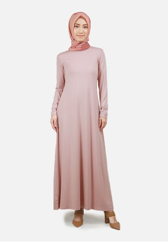 QUEENSLAND pink Long Dress Kaos Wanita A04014Q Pink 00403AAD478E4BGS_1