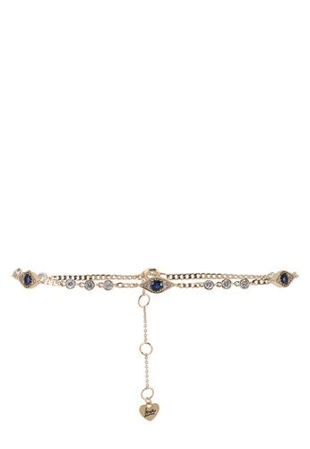 ALDO blue Harloww Ankle Bracelet BC36CACEACD829GS_1