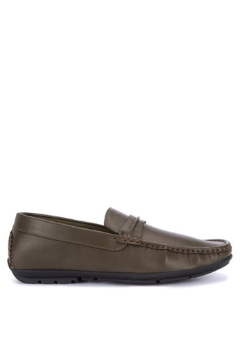 Italianos brown Benett Loafers 93EA6SH2ACCDFFGS_1