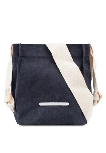 Rawrow navy Cross Shoulder 711 Wax Canvas Bag 31681ACA1C07CBGS_1