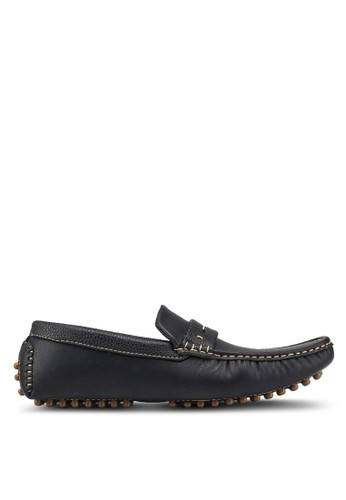 UniqTee black Casual Slip On With Penny Strap 837C5SH31F2A91GS_1