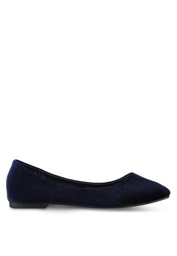 Mimosa blue Velvet Flats BEBFESHEEE9EDEGS_1