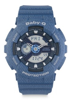 Image of Baby-G Watch Ba-110Dc-2A2Dr - Blue - One Size
