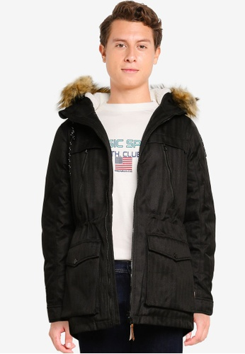Indicode Jeans black Boe Hooded Parka Jacket D48EDAAD5187E2GS_1