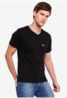 1273c6a970ca Guess black Embroidered Guess Logo Pocket Tee 4A651AA9C5EA44GS_1