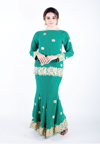 Madhuri Shamrock Green from Ann Khan Exclusive in Green and Gold