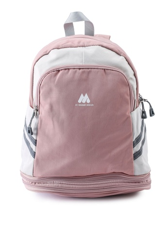 Bagstationz pink Multipurpose Backpack with Shoe Storage 52066AC28E62CDGS_1