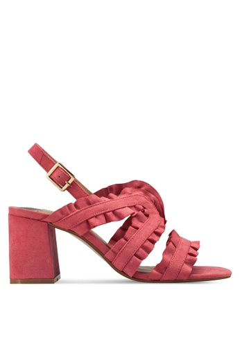 Dorothy Perkins pink Pink 'Serenity' Ruffle Sandals DO816SH17UIKMY_1