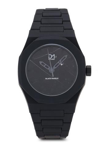 D1 Milano black Marble Watch Black 1A2A6AC8DA53DFGS_1