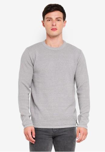 Indicode Jeans grey Ayoub Mini Ribbed Knitted Sweater E5626AA507219FGS_1