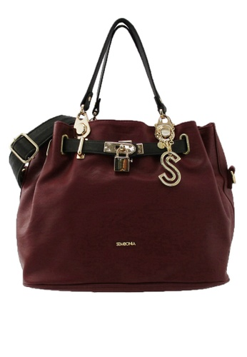 SEMBONIA red SEMBONIA Synthetic Leather Tote Bag C6867AC86A007BGS_1