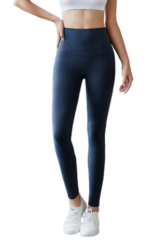 B-Code navy ZYG3034-Lady Quick Drying Running Fitness Yoga Sports Leggings -Navy 8F715AA43E33DDGS_1