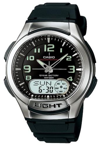 Casio black Casio Analog Digital Jam Tangan Pria - Hitam - Strap Karet - AQ- 0af076bcbe