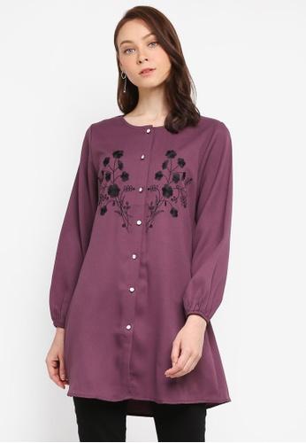 BYN purple Muslimah Blouse BF85AAA8803307GS_1