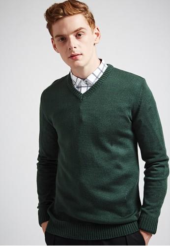 簡約經典。氣質色調。V領針織衫-MIT-03623-墨綠、 服飾、 外套Life8簡約經典。氣質色調。V領針織衫-MIT-03623-墨綠最新折價
